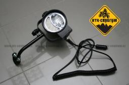 Přídavné halogenové světlo 12V/35W s odděleným LED přisvícením